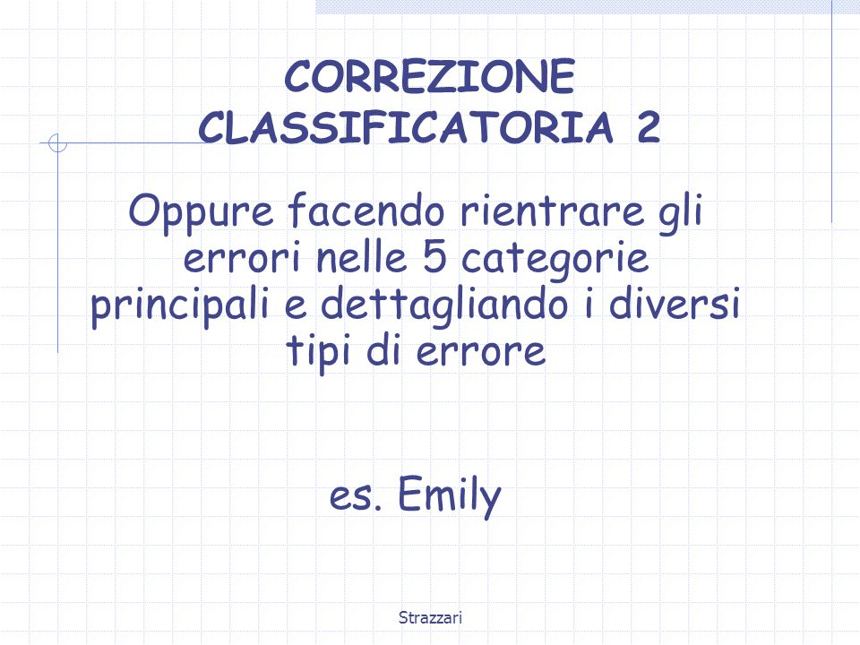 CORREZIONE CLASSIFICATORIA 2