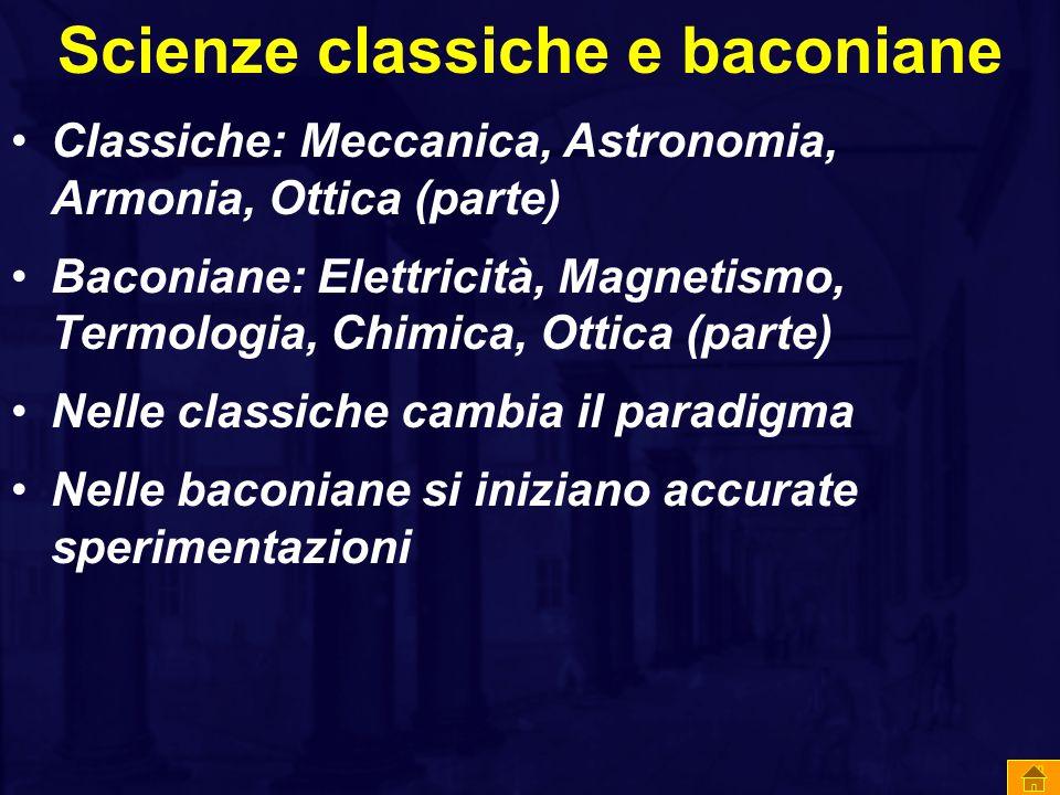 Scienze classiche e baconiane