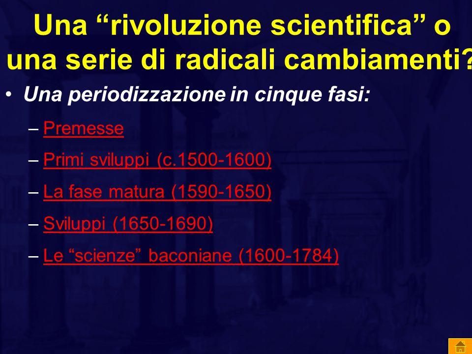 Una rivoluzione scientifica o una serie di radicali cambiamenti