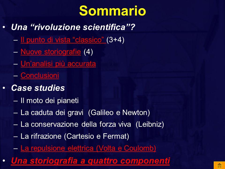 Sommario Una rivoluzione scientifica Case studies