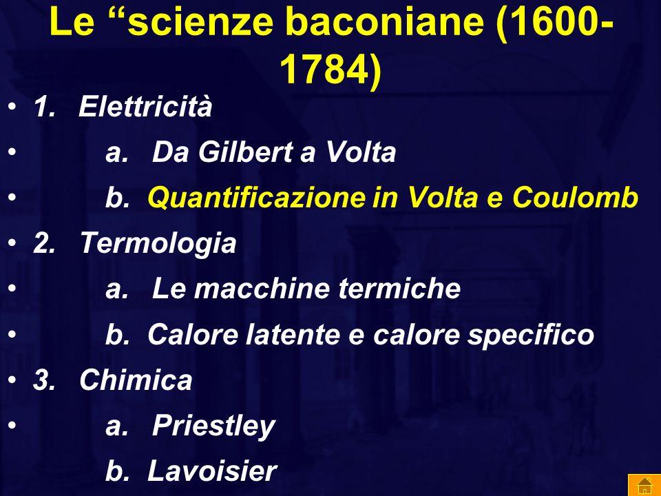 Le scienze baconiane (1600- 1784)