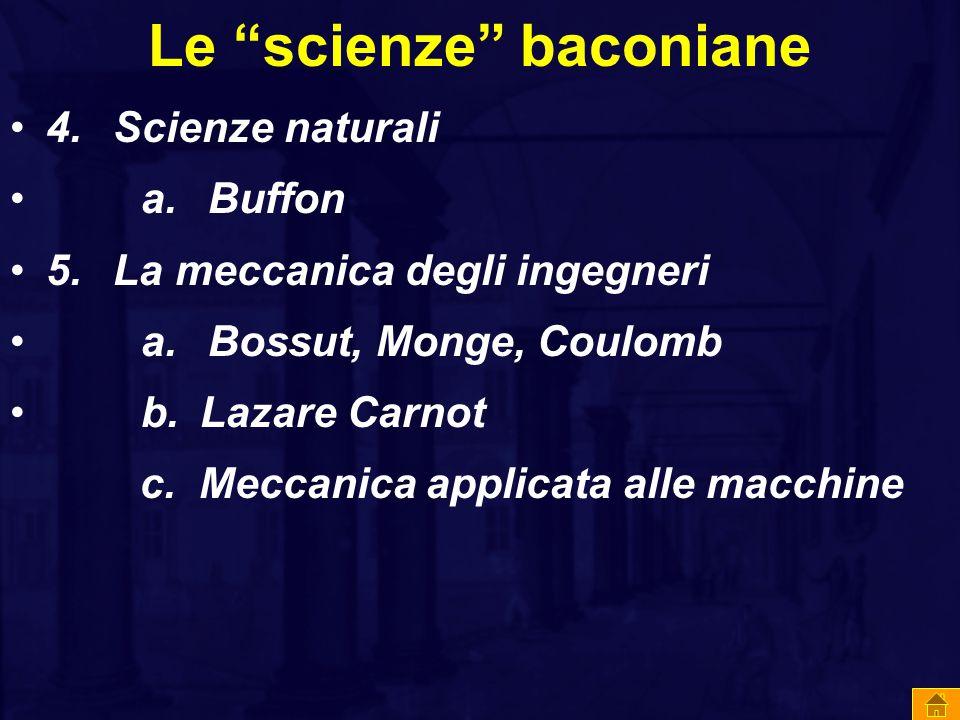 Le scienze baconiane
