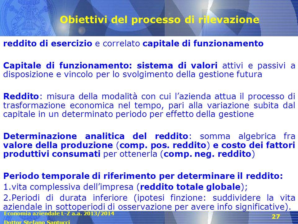 Obiettivi del processo di rilevazione