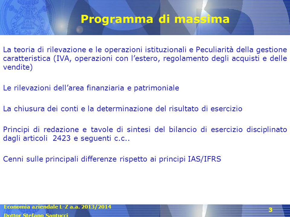 Programma di massima