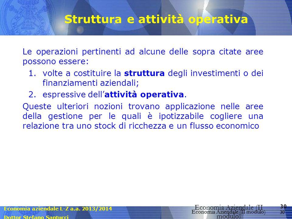 Struttura e attività operativa