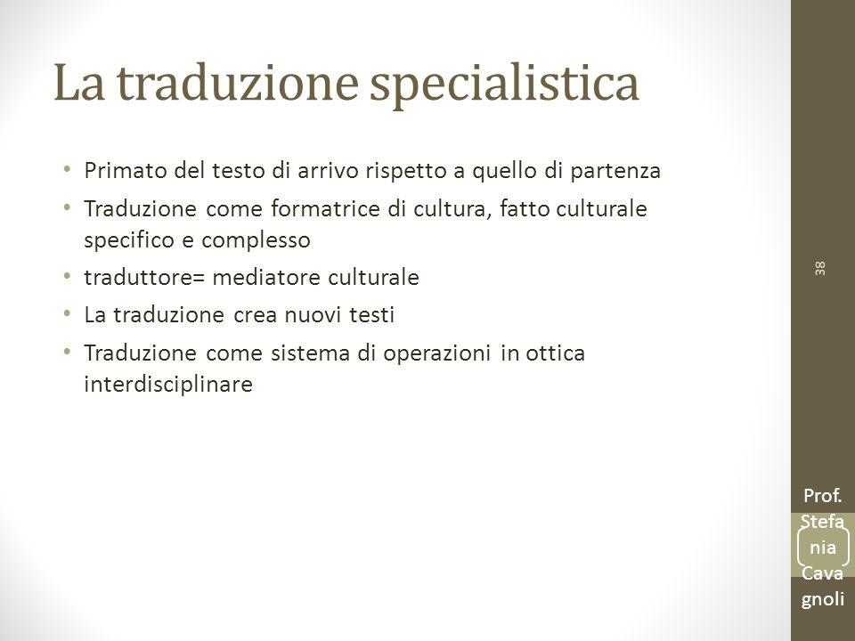 La traduzione specialistica