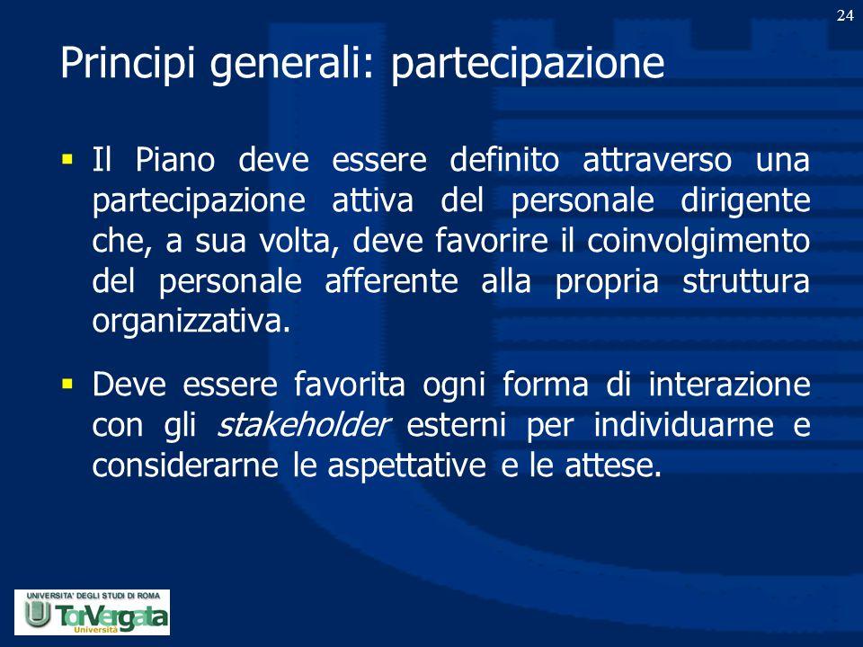 Principi generali: partecipazione