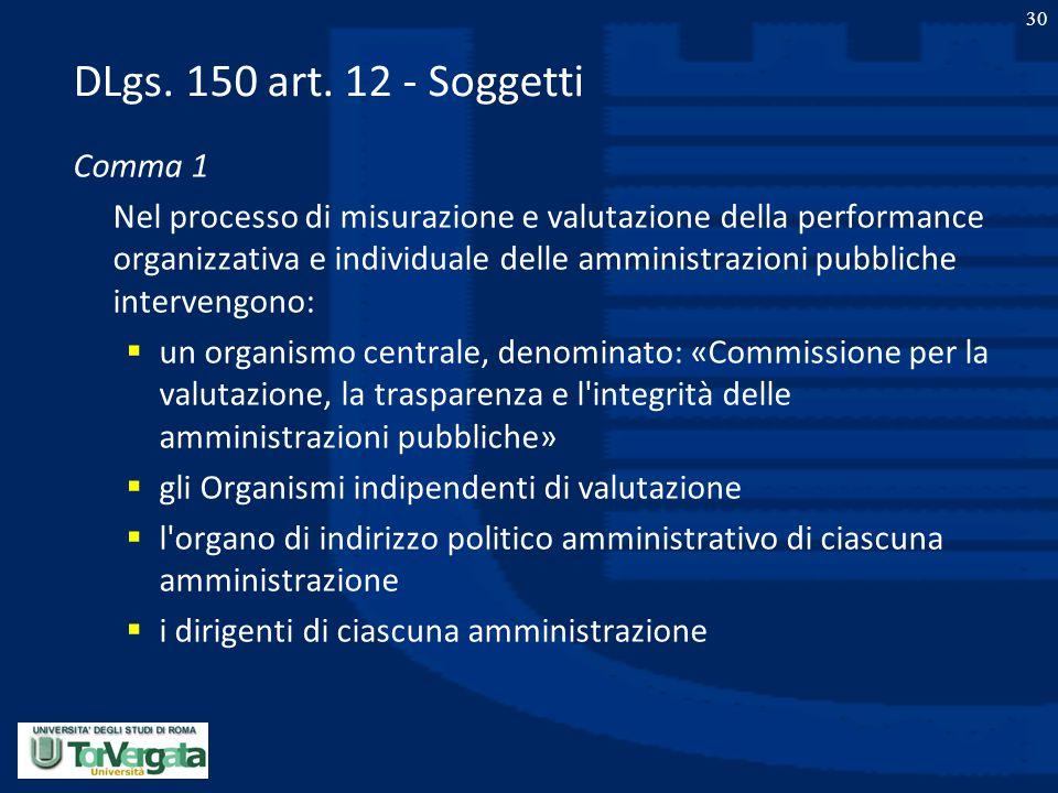 DLgs. 150 art. 12 - Soggetti Comma 1