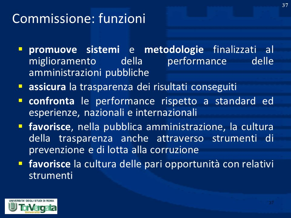 Commissione: funzioni