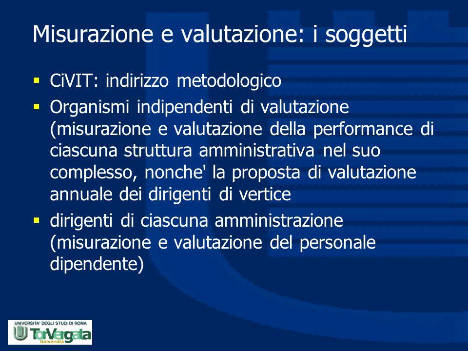 Misurazione e valutazione: i soggetti
