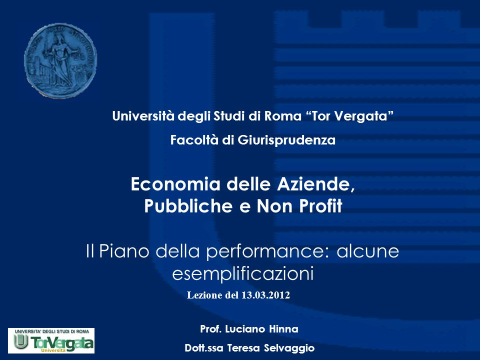 Università degli Studi di Roma Tor Vergata
