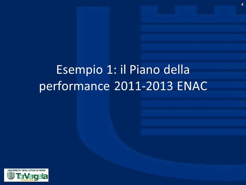 Esempio 1: il Piano della performance 2011-2013 ENAC
