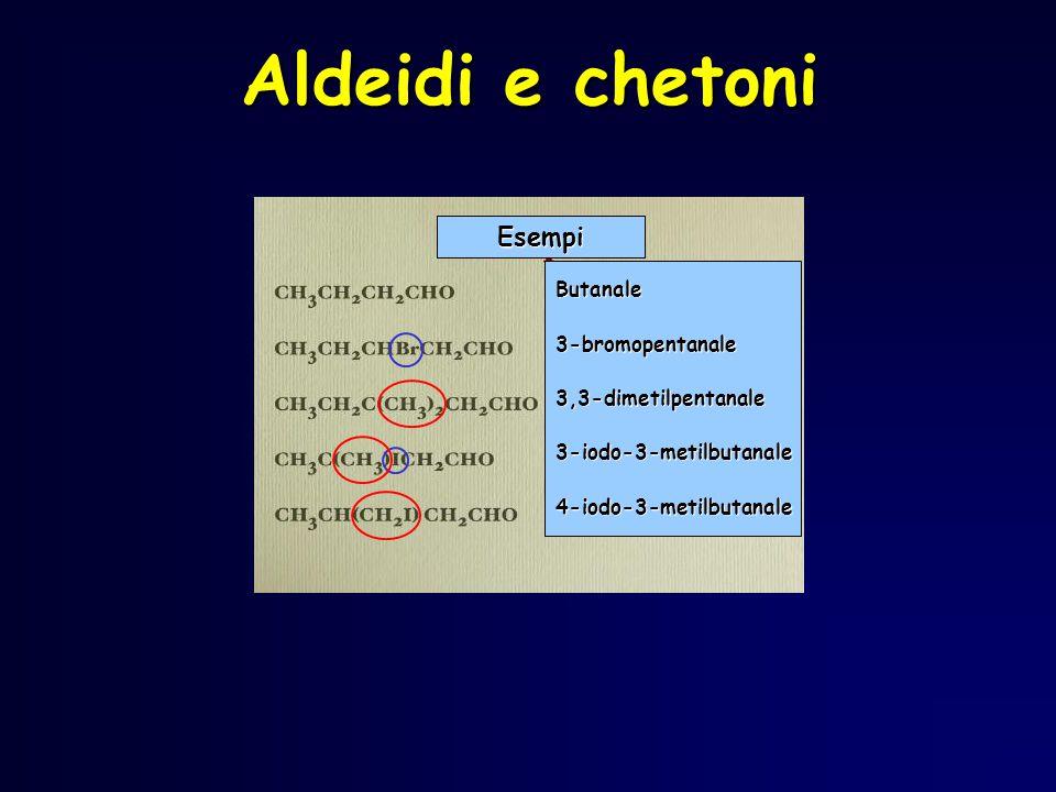 Aldeidi e chetoni Esempi Butanale 3-bromopentanale