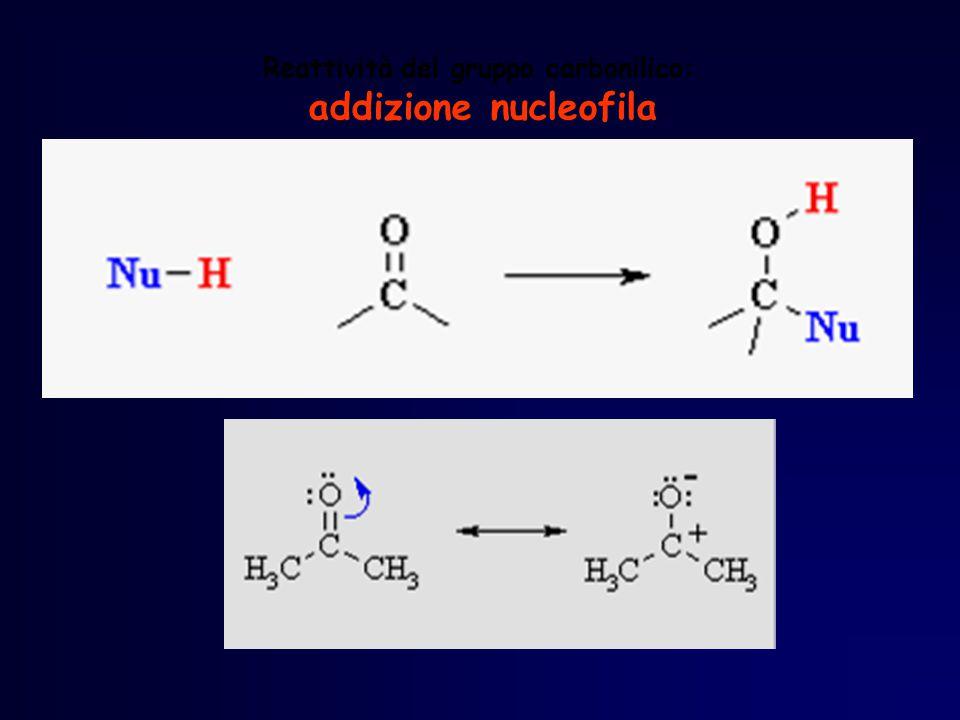 Reattività del gruppo carbonilico: