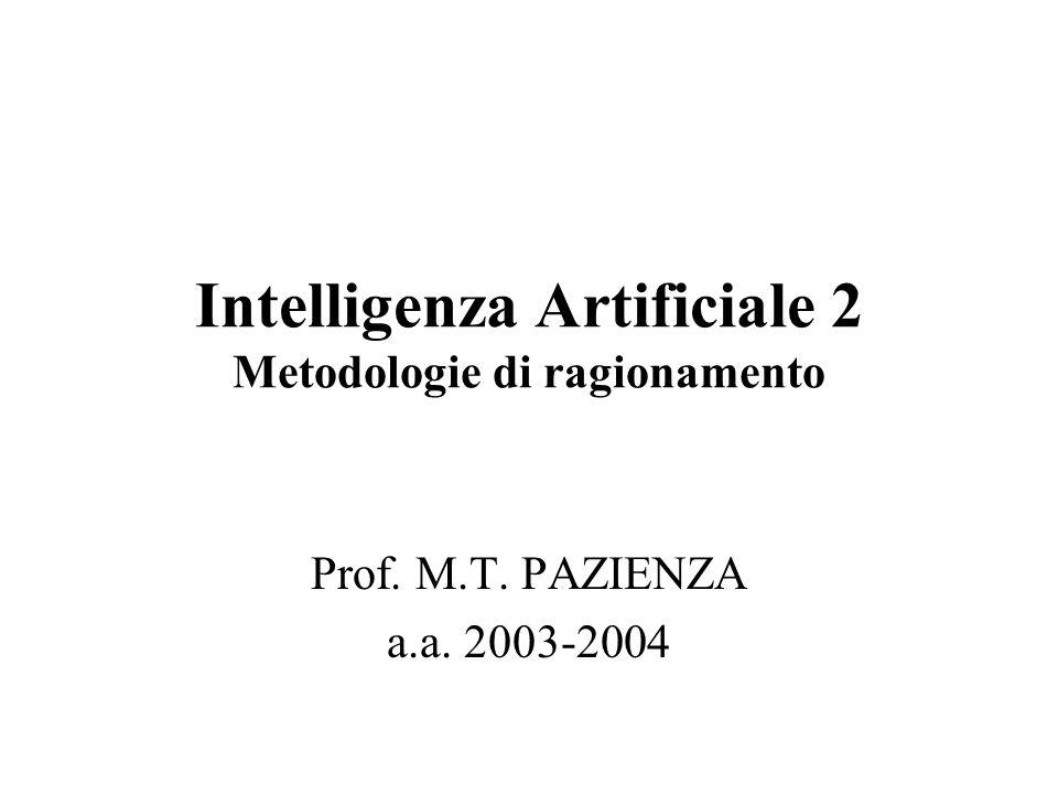 Intelligenza Artificiale 2 Metodologie di ragionamento