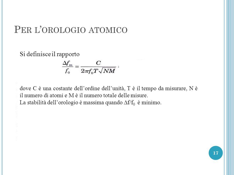 Per l'orologio atomico