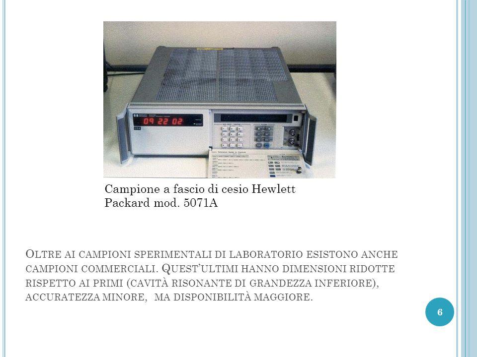 Campione a fascio di cesio Hewlett Packard mod. 5071A