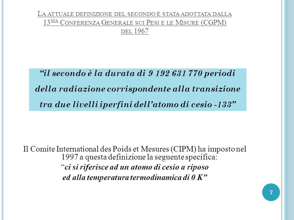 il secondo è la durata di 9 192 631 770 periodi