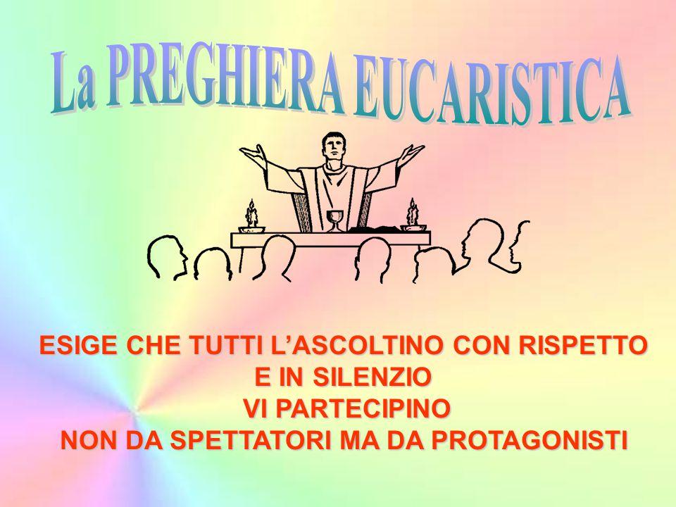 La PREGHIERA EUCARISTICA