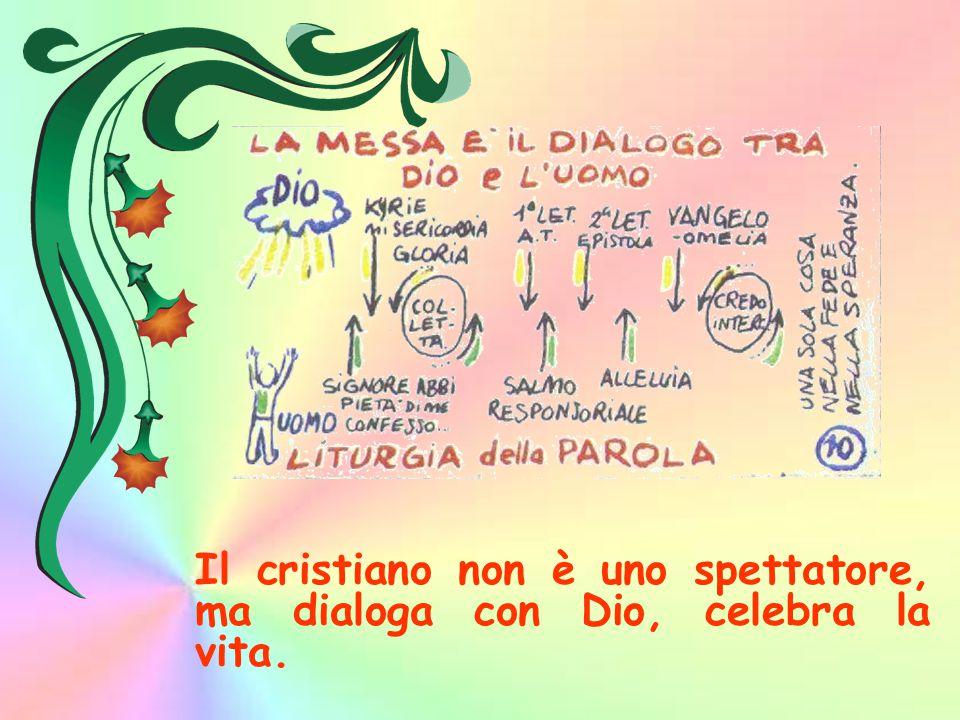 Il cristiano non è uno spettatore, ma dialoga con Dio, celebra la vita.