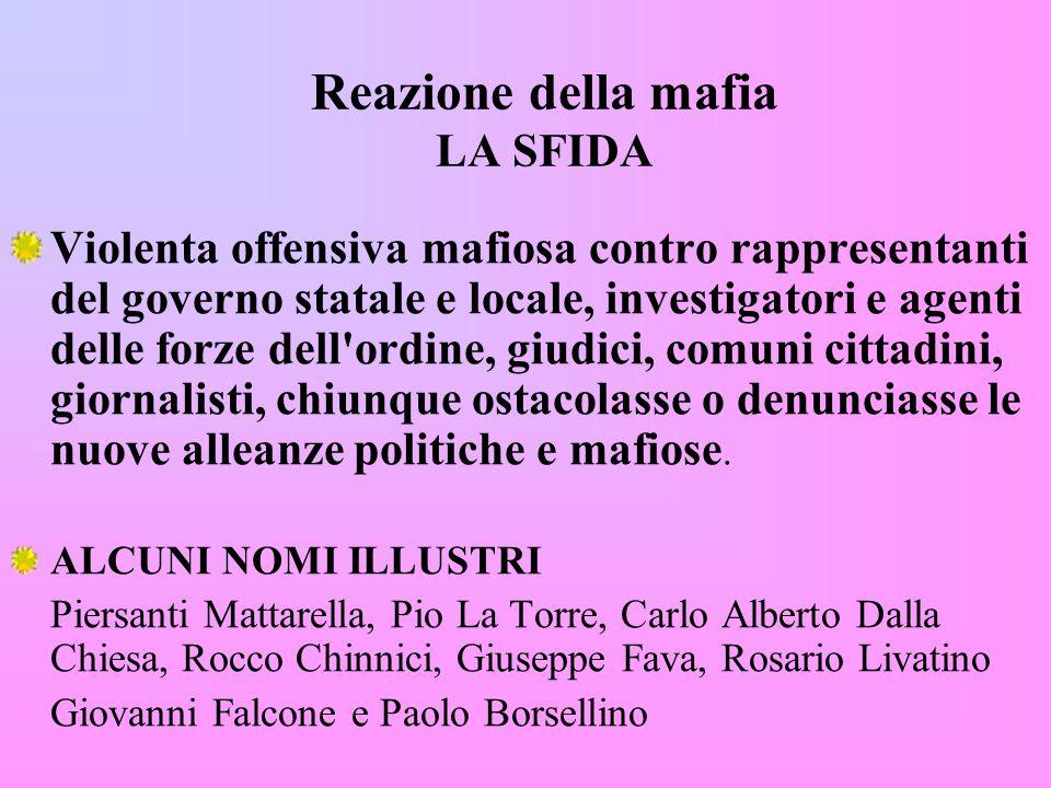Reazione della mafia LA SFIDA