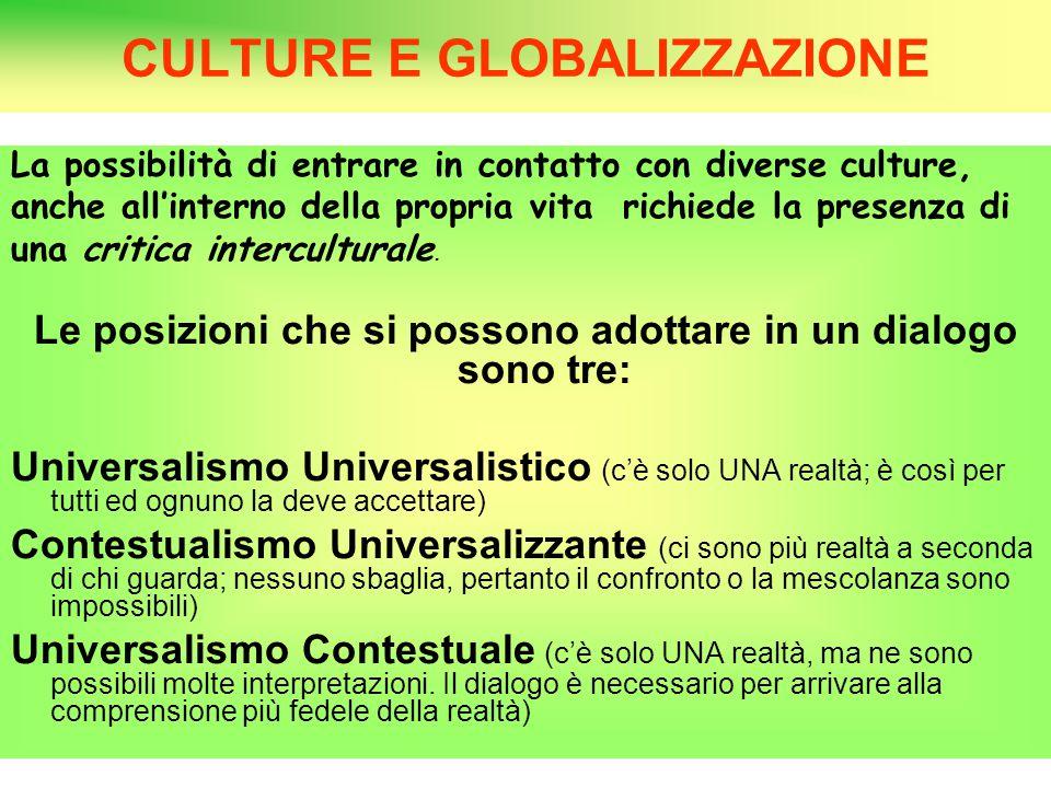 CULTURE E GLOBALIZZAZIONE