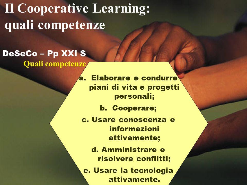 Il Cooperative Learning: quali competenze