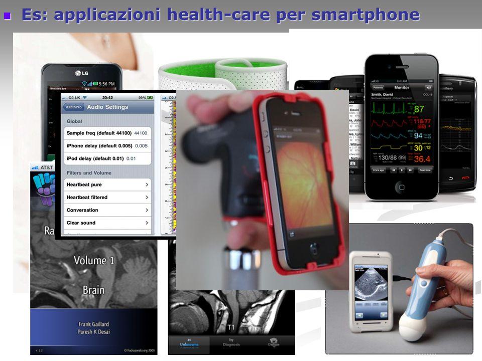 Es: applicazioni health-care per smartphone