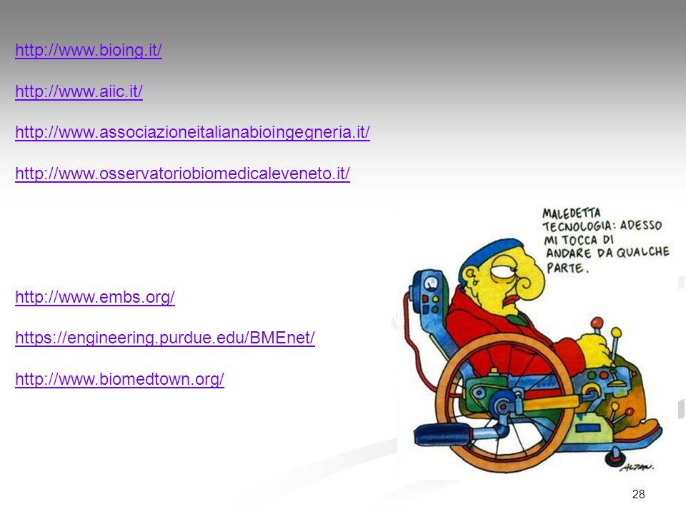 http://www.bioing.it/ http://www.aiic.it/ http://www.associazioneitalianabioingegneria.it/ http://www.osservatoriobiomedicaleveneto.it/