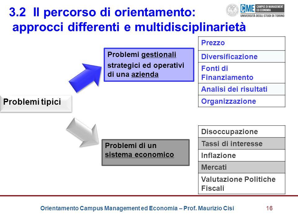 3.2 Il percorso di orientamento: approcci differenti e multidisciplinarietà
