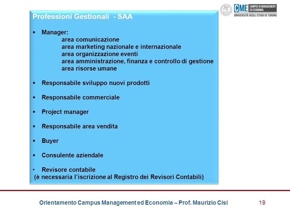 Professioni Gestionali - SAA