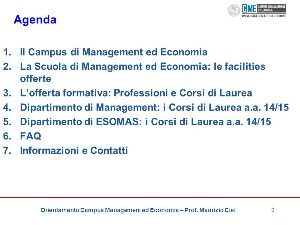 Agenda Il Campus di Management ed Economia