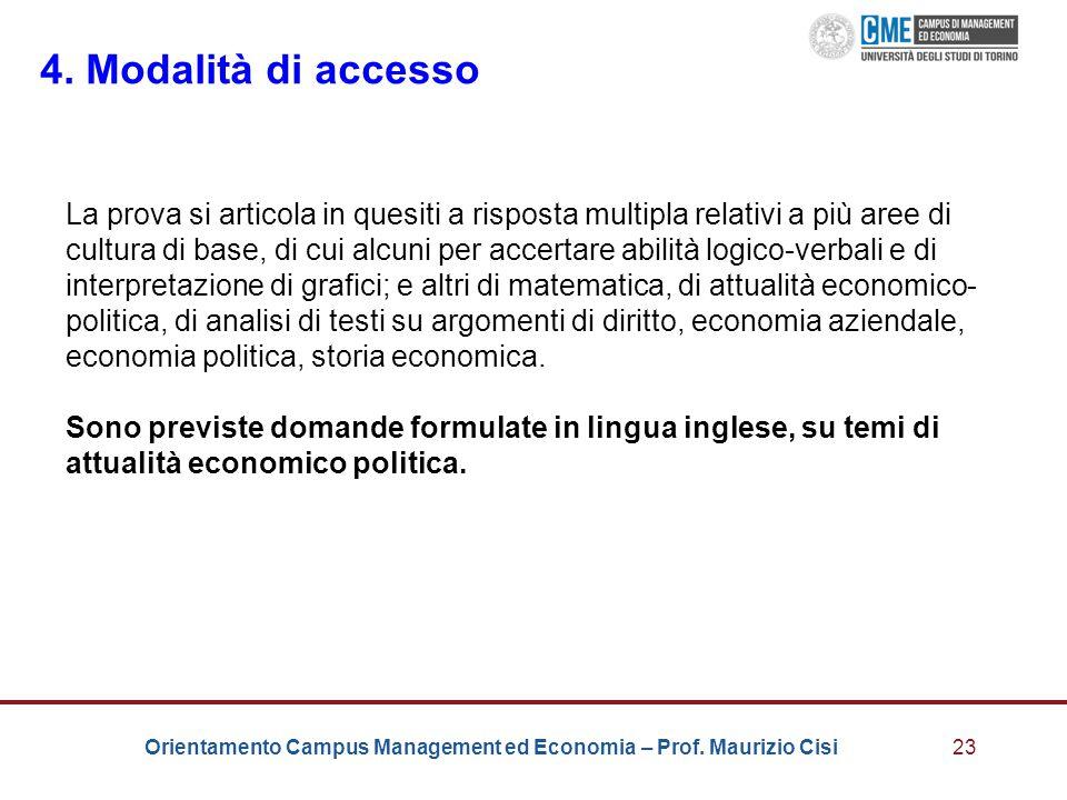 4. Modalità di accesso