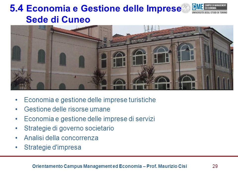 5.4 Economia e Gestione delle Imprese Sede di Cuneo
