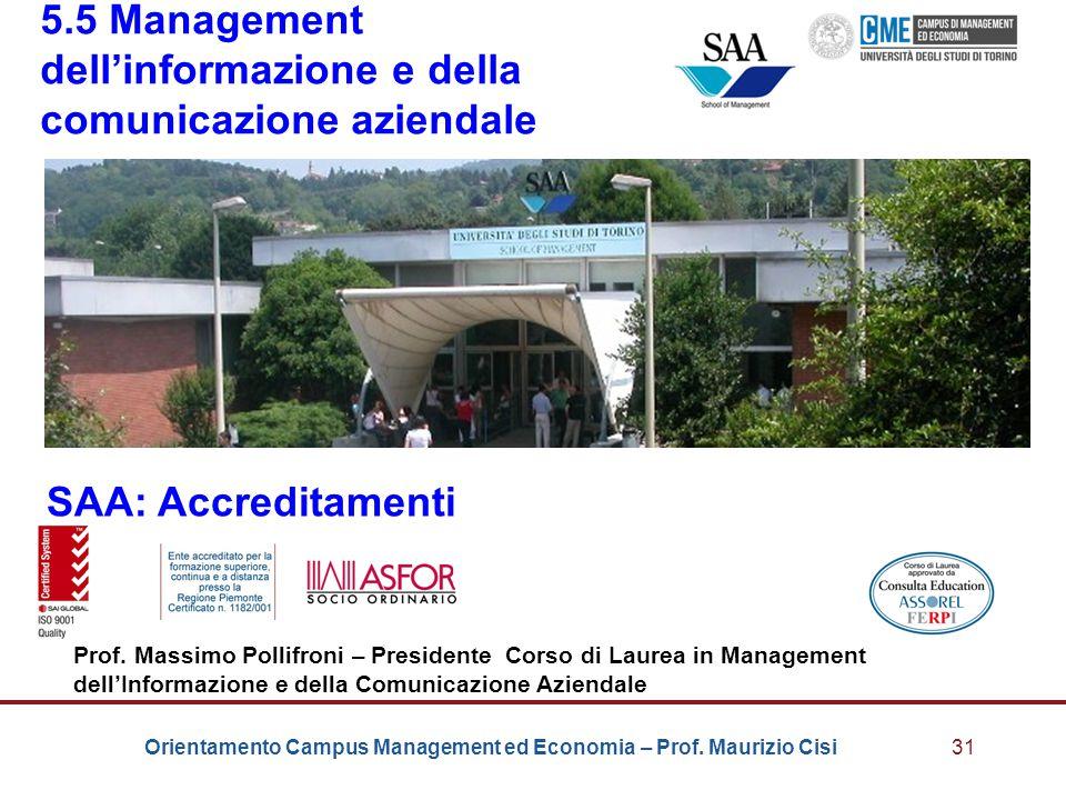 5.5 Management dell'informazione e della comunicazione aziendale