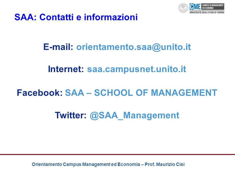 SAA: Contatti e informazioni