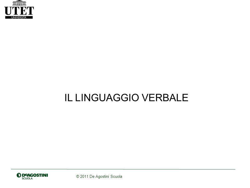 IL LINGUAGGIO VERBALE