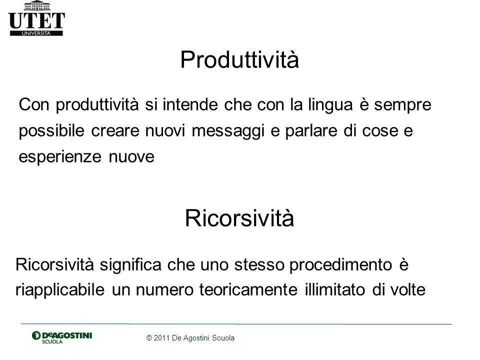 Produttività Ricorsività