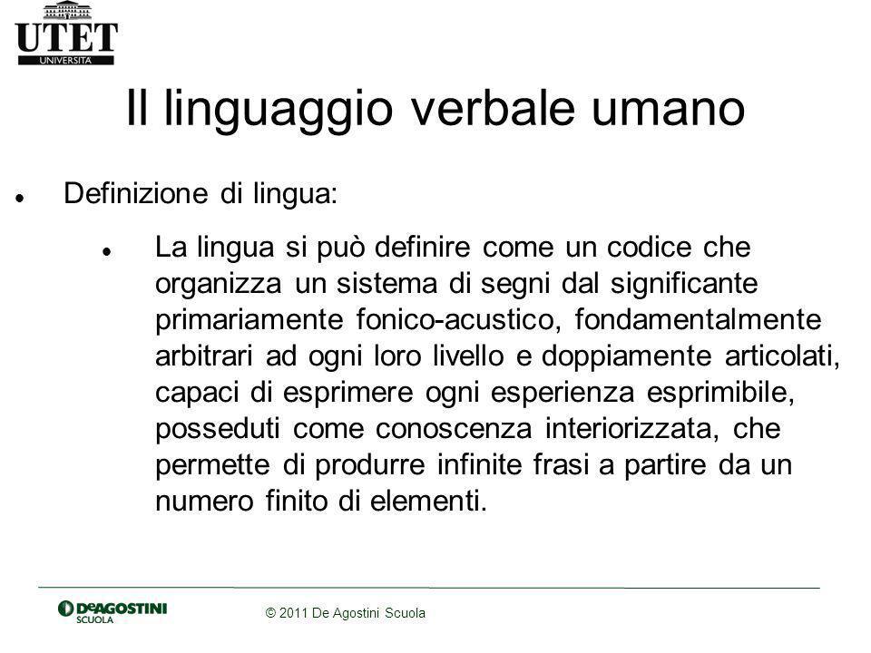 Il linguaggio verbale umano