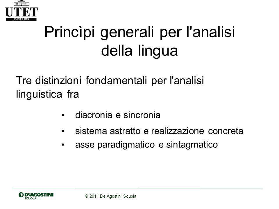 Princìpi generali per l analisi della lingua