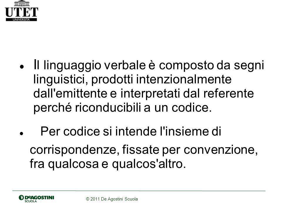 Il linguaggio verbale è composto da segni
