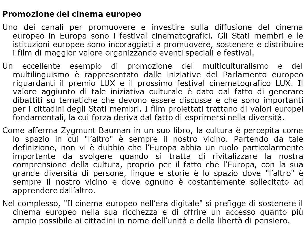 Promozione del cinema europeo