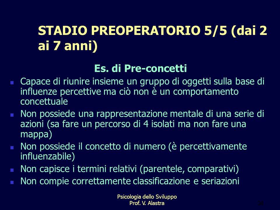 STADIO PREOPERATORIO 5/5 (dai 2 ai 7 anni)