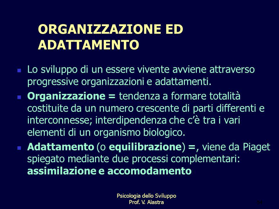 ORGANIZZAZIONE ED ADATTAMENTO