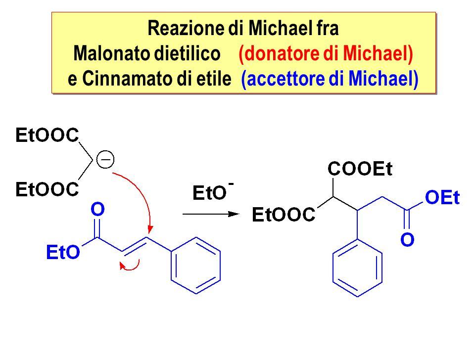 Reazione di Michael fra Malonato dietilico (donatore di Michael)