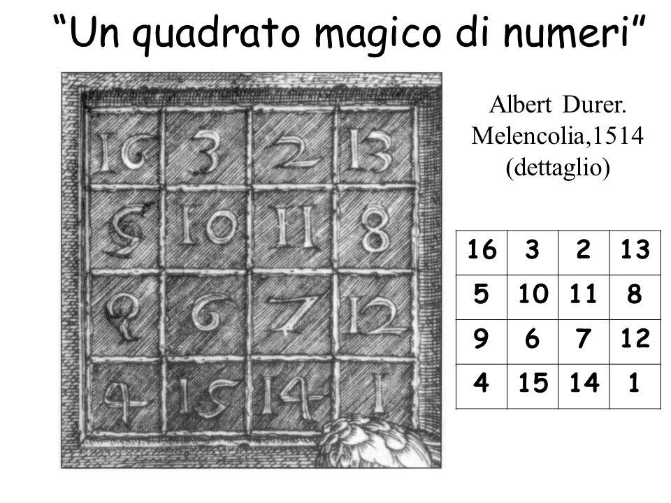Un quadrato magico di numeri