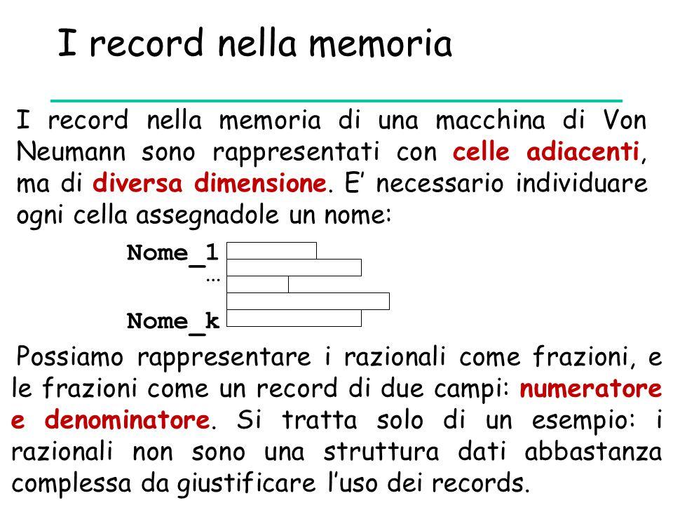 I record nella memoria