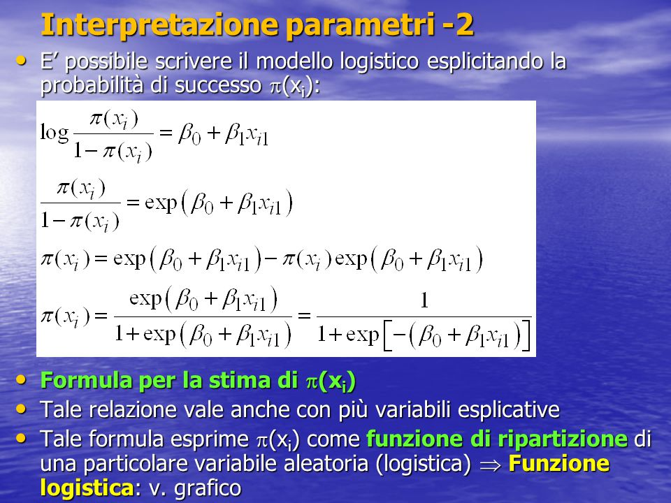 Interpretazione parametri -2