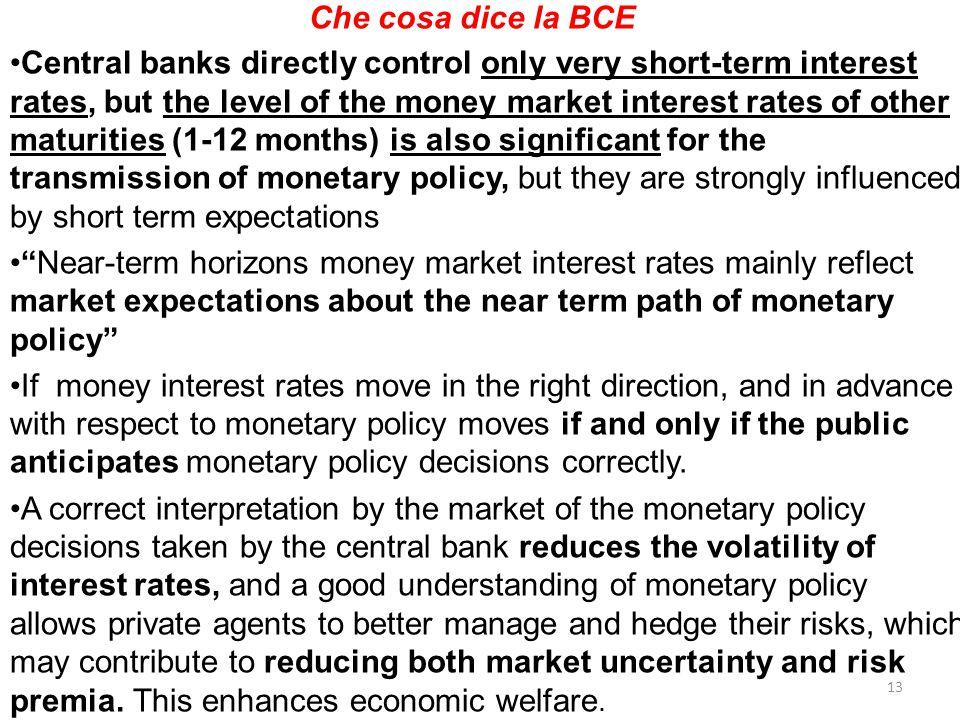 Che cosa dice la BCE