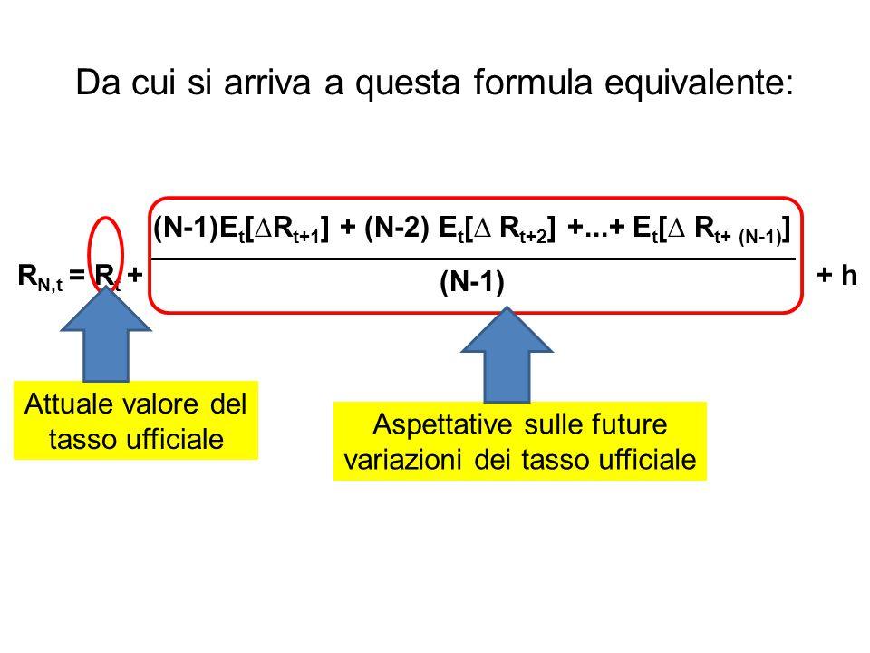 Da cui si arriva a questa formula equivalente: